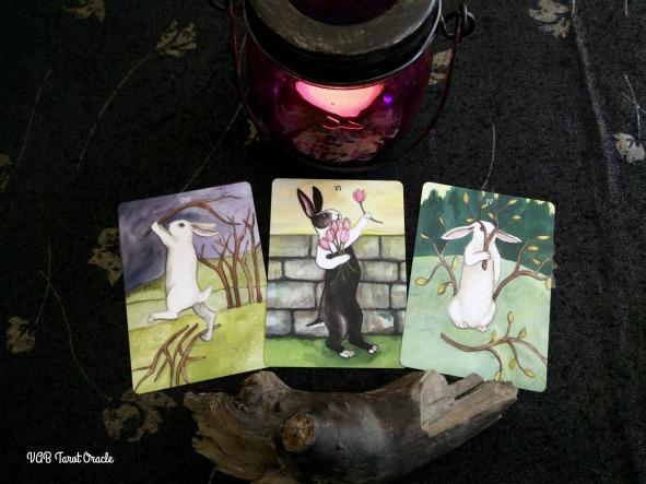 Rabbit Tarot - VIIof SticksFireWands-VIofTulipsWaterCups-IVofSticks 06-30-2017_07-02-2017PICM