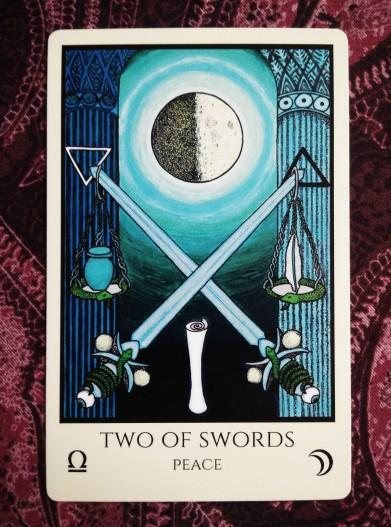 Image result for 2 of swords tarot tabula mundi